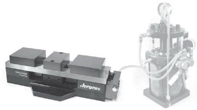 液压台虎钳  创新的紧凑结构设计 内部液压控制 夹紧力可达21 kn 更图片