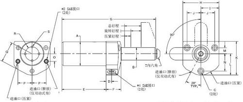 旋转油缸-上法兰/板式安装_杰根斯_工装夹具_液压夹具图片