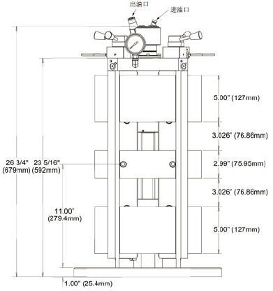150mm液压台虎钳立柱_4面式_杰根斯_工装夹具_台虎钳